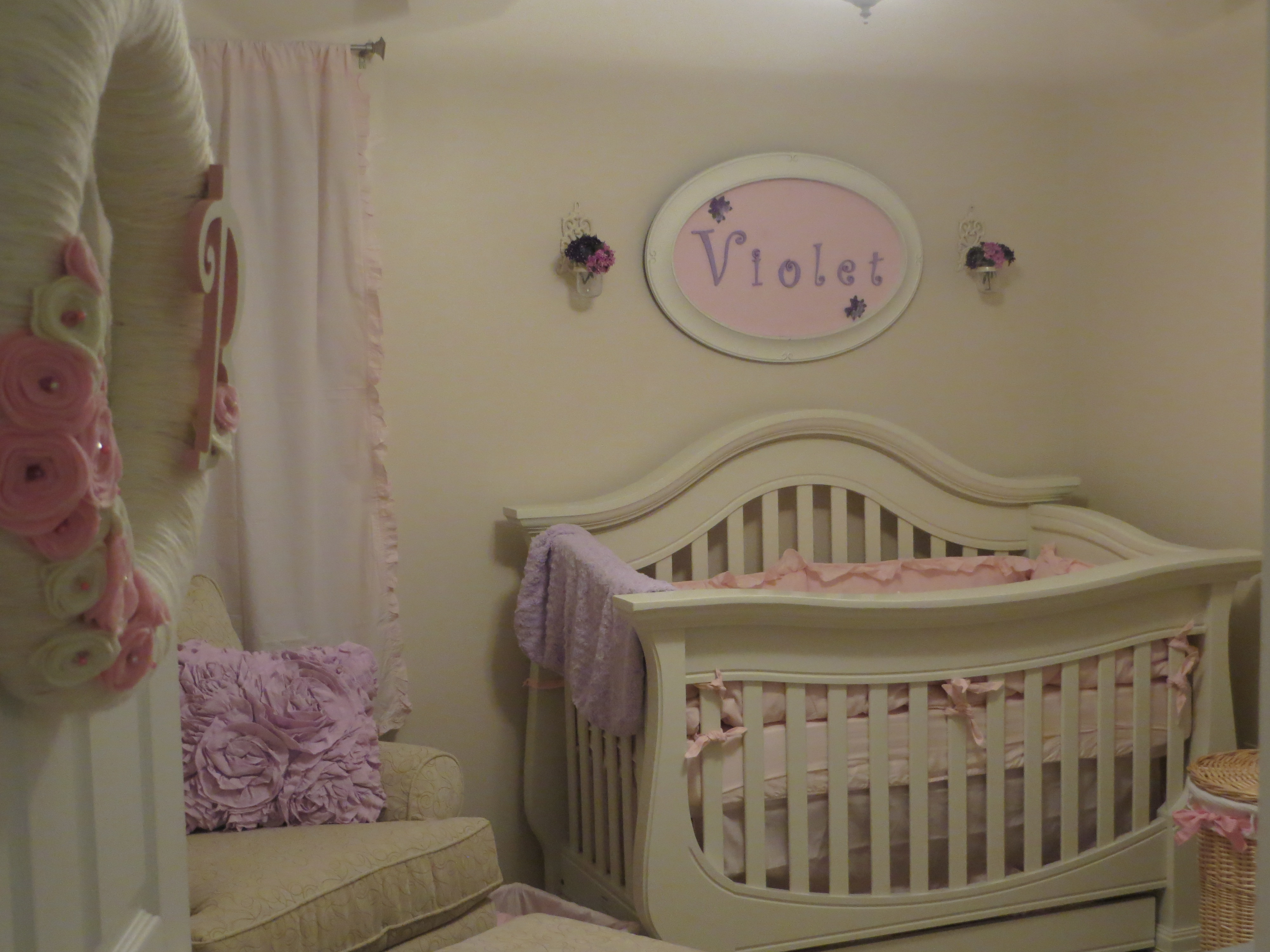Pink And Purple Baby Girl Nursery News Anchor To Homemaker