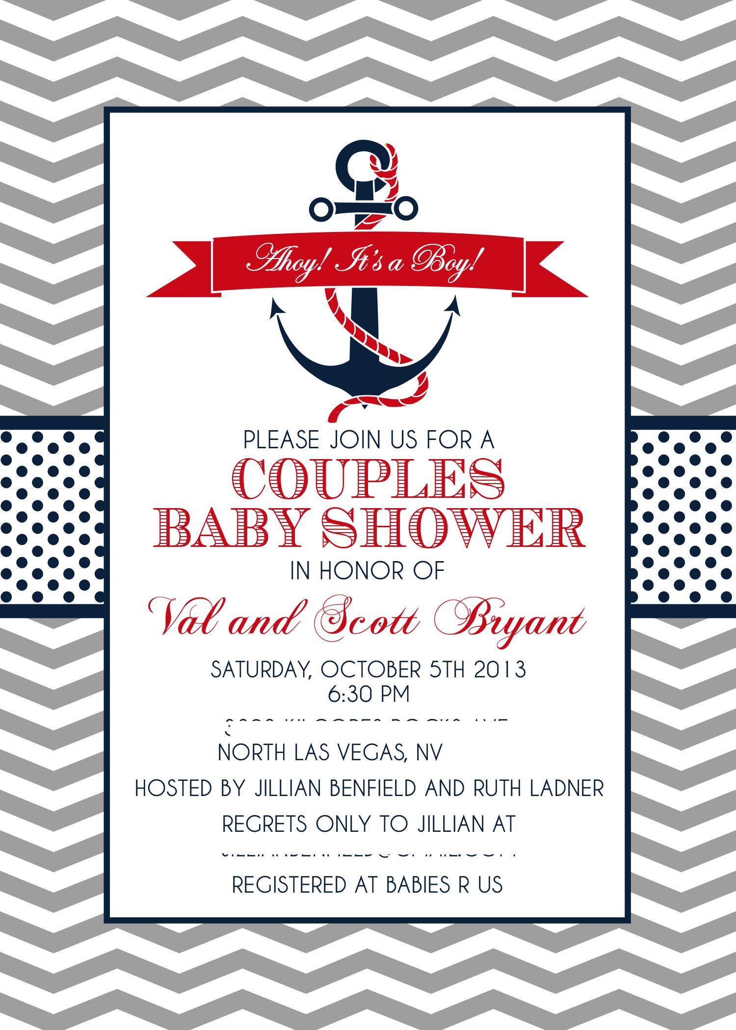 Sailor Baby Shower Invitation is luxury invitation example