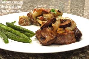 SS Steak and Blue Cheese Potatoes NewsAnchorToHomemaker