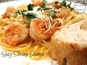 Spicy Shrimp Scampi www.newsanchortohomemaker.com