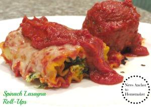 Spinach Lasagna Roll NewsAnchorToHomemaker