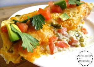 Enchiladas with Jalapeño Cream Sauce  News Anchor To Homemaker