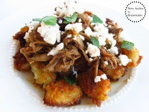 Fried Gnocchi with Goat Cheese News Anchor To Homemaker