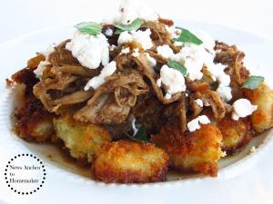 Fried Gnocchi with Goat Cheese on NewsAnchorToHomemaker