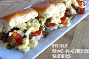 Philly Mac-n-Cheese Sliders on NewsAnchorToHomemaker
