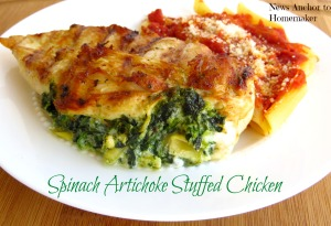 Spinach Artichoke Chicken on NewsAnchorToHomemaker