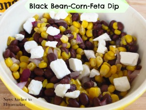 Black Bean Corn Feta Dip on News Anchor To Homemaker