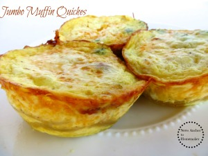 Jumbo Muffin Individual Quiches on www.newsanchortohomemaker.com