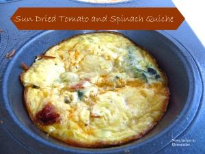 Sun Dried Tomato and Spinach Quiche www.newsanchortohomemaker.com