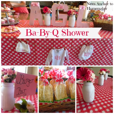 Ba-By-Q Shower on www.newsanchortohomemaker.com {bbq baby shower}